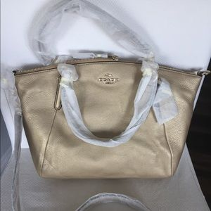 NWT Coach Small Kelsey leather satchel gold F36675